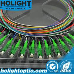 LC/APC SM 12 couleurs optiques avec RoHS conforme en queue de cochon