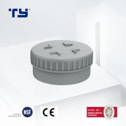 PVCプラスチック土及び出口の不用な排水の管の管継手のプラグDINの標準