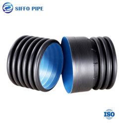 HDPE van de fabrikant Sn8 de Zwarte Dubbele Muur GolfPE van de Pijp HDPE van de Riolering Pijp van het Systeem van de Drainage van de Pijp