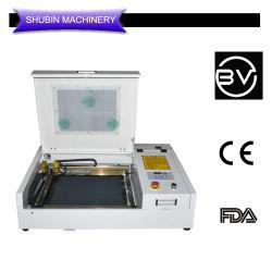 Mini 4040 CO2 레이저 절단 인그레이빙 인쇄 표시 기계 MDF 아크릴 합판 가죽 400 * 400mm
