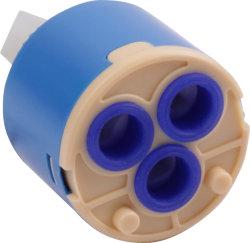 35mm cartuccia di ceramica del colpetto dei tre fori, valvola della cartuccia del rubinetto per il rubinetto/colpetto/stanza da bagno (C35P1-1)