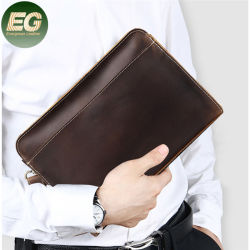 Emg6341 كاوهايد حقيبة الرجال الحقيقية حقيبة 100 ٪ الجلد بطاقة الائتمان محفظة محفظة العملات المعدنية الخاصة بالسفر لحامل النقود
