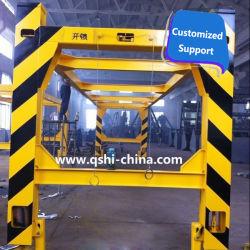 Overheight рамы на открытой верхней части контейнерных грузов, загрузка