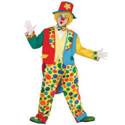 Homens DOT Professional Clown Joker Suits Fantasias fantasias inclui Jacket Vest Pants Hat e Tirante