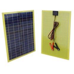 20 Watt gedruckte Schaltkarte lamellierte des Sonnenkollektor-DIY Installationssatz-mit 2m Kabel u. Klipp für kampierendes 12V Ladegerät