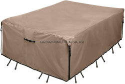 فناء مستطيل غطاء طاولة الخدمة الشاقة - قماش قوي 600D طاولة طعام خارجية مضادة للماء ومقاعد وغطاءً للأغراض العامة الحجم الذي تم تخصيبه