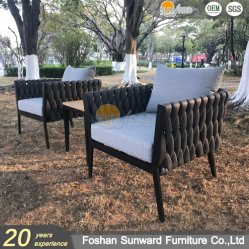 Sunward Hotsale Hotel Leisure Garden Hotel Resort Project Outdoor Weaving Seilsofas