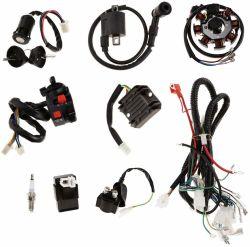 В полной мере жгут проводов электромагнита электропроводкой Cdi катушки зажигания свечей для 125 см-250cc 4-тактный двигателей скутеров ATV Go Kart мопеда Quad Bike грязи тележки