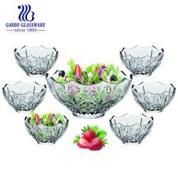 Venda por grosso de vidro de cozinha Taça de salada de vidro 7 Jantar de PCS para terceiros (TZ7-GB16019QX)