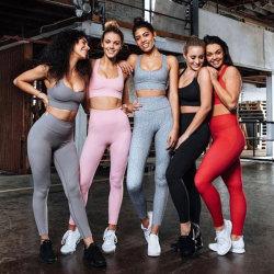 Color sólido de la moda Fitness Yoga Yoga sudor higroscópico TRAJE TRAJE TRAJE DE FUNCIONAMIENTO