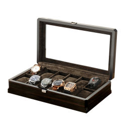 Almacenamiento de madera negra ver Box
