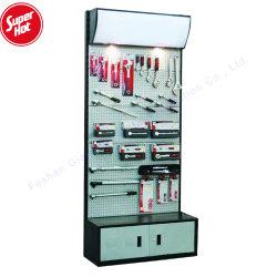 安い金属展覧会の記憶装置のツールの製品の表示小売店の床のPegboardのハードウェアラック