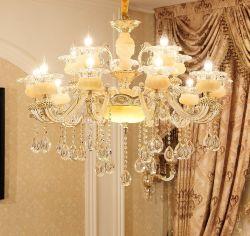 Lampada a LED a sospensione con lampadario a candela in cristallo moderno per la casa Decorazione ZF-Cl-004