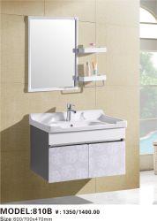 تصميم جديد حمام حديث من خشب الزان معلق على الجدار مع مصباح LED مرآة الخزانة