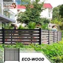 Aluminio compuesto de plástico Mexytech Madera 9 Escala la resistencia del viento cerca del jardín