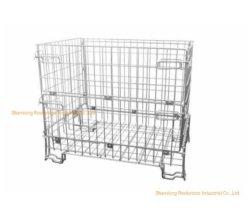 Caricamento massimo pieghevole galvanizzato 600kg della gabbia RS-566c del pallet del nastro metallico