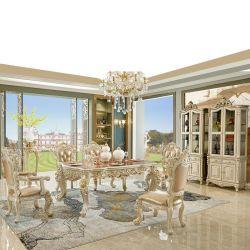 任意選択家具カラーのサイドボードが付いている木によって切り分けられるダイニングテーブル