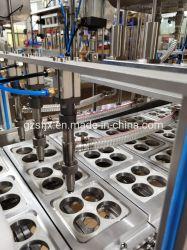 自動スプーンの蜂蜜パッキング機械蜂蜜のコップの充填プラスチックプロダクト トレイシーリングマシンマスクマッサージ食品包装充填機