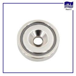 Fuerte permanente del bloque de cilindros magnéticos de imán de neodimio de orificio Pot