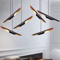 تصميم عصري أنيق من الألومنيوم بألومنيوم أسود أنبوب طويل مصباح بندول LED