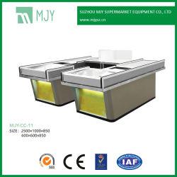 Supermercado Metales Acero Checkout Cajero Contador con cinta transportadora del sensor Mjy-Cc-11
