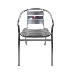 Кафе Бар на открытом воздухе дешевые логотип реклама алюминиевые 7 планки обеденный стул