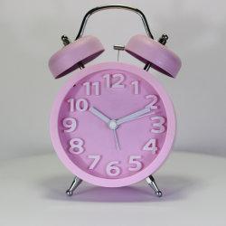 [116مّ] لون قرنفل [دووبل رينغ] [ألرم كلوك] مكتب ساعة
