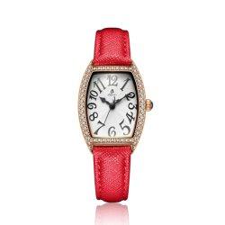 As mulheres de moda jóias do relógio de quartzo com pulseira de couro (NI-068)