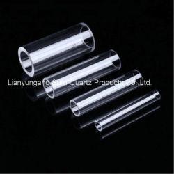 Haute qualité à haute température du tube de verre de quartz poli