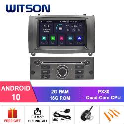 Witson Quad-Core Android 10 Alquiler de DVD GPS para Peugeot 407 construido en función DVR con cámara externa vehículo Radio Multimedia