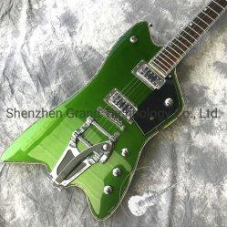 مخصص جديد قيثار بديل جيتار جاز جيتار جيتار معدني اللون الأخضر الجسم جهاز أبيض قابل للتخصيص