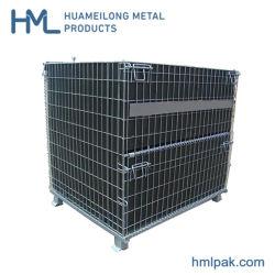 PP 장을%s 가진 직류 전기를 통한 쌓을수 있는 금속 와이어 메시 접히는 콘테이너