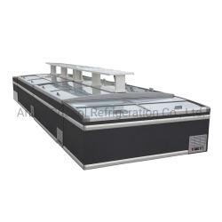 Plug-in R290 Ilha Supermercados Congelador, arca congeladora exibição comercial