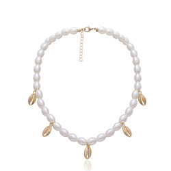 Colorare i monili bianchi della collana dei monili delle signore della resina acrilica di modo della perla della lega delle coperture