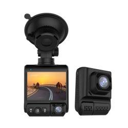 2.0''Pantalla IPS FHD 1080p con doble lente de cámara de coche WiFi GPS con Sony IMX307 Sensor de Visión Nocturna