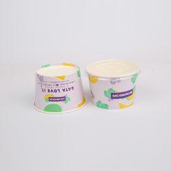 Sorvete descartáveis de papel de embalagem, recipiente de Gelados Icecream Cup com tampa