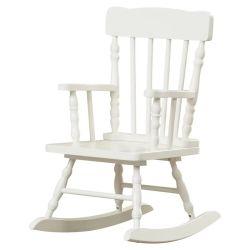 كرسي الأطفال الصلب من خشب الصنوبر كرسي الأطفال الهزاز