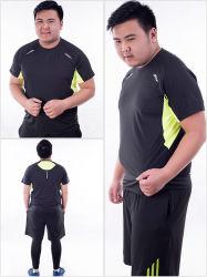 Мужчин плюс размер спортивный костюм 3 Кусок Quick-Drying Дышащий пригодности в соответствии похудение работает в соответствии жирбольшого костюм