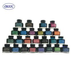 أحبار Fountain Pen ذات زجاجات زجاجية بألوان زاهية متعددة