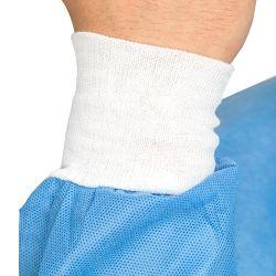 L'isolement jetables robe tricot élastique dévalisé les blouses de laboratoire de chirurgie du brassard blouse antistatique Preuve La preuve de rayonnement de l'eau