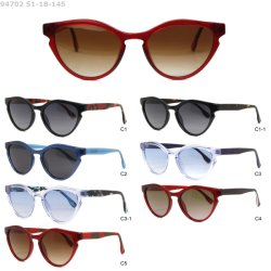 2020 recentemente adatta gli occhiali da sole dell'acetato dell'iniezione dell'occhio di gatto di disegno per le donne