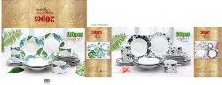 Suministro de la fábrica de porcelana vajilla vajilla Floral de la Cena La cena de porcelana fina Hotel establece vajilla