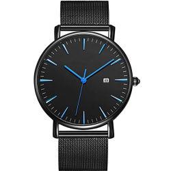 多彩な手のステンレス鋼の網ストラップの日本の動きの腕時計の高い量の腕時計