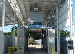 Iwildt™un sistema de inspección de seguridad-48002800 con 100mm de espesor de la placa de acero para el transporte ferroviario de mover los vehículos grandes