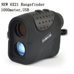 Visionking 6X21 Laser-Entfernungsmesser für Jagd-/Golf-Regen-Modell 1000 m-Entfernungsmesser-im Freien Optik-Jagd/Golf-Abstands-Messinstrument