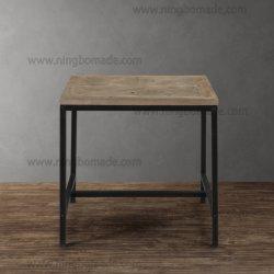 Современном скандинавской стране стиле сосны хранения природных мелиорированных РПИ древесины с черными утюг металлические фиксированный угол кофейный столик