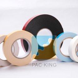 二重上塗を施してある黒いポリエチレンの泡テープ