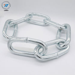 La norma DIN 763 Blanco eléctrico soldado Cadena de eslabones de acero galvanizado