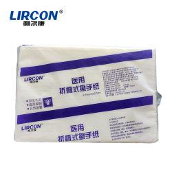 中国の工場医学の使い捨て用品のバージンの木材パルプのティッシュの使い捨て可能な生殖不能のペーパータオル