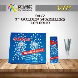 Pouce 0977-7Golden Sparklers-High Qualit intérieur extérieur jouets le bonheur de la pyrotechnie FUEGOS ARTIFICIALES Fireworks chinois